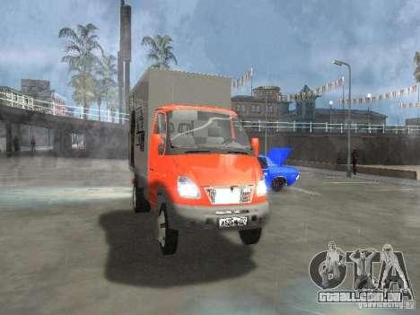 Gazela 33022 para GTA San Andreas traseira esquerda vista