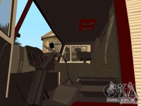 KAMAZ 43253 Rozenbauer para GTA San Andreas vista traseira
