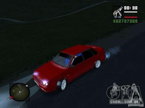 VAZ 2115 FYR Beta para GTA San Andreas traseira esquerda vista