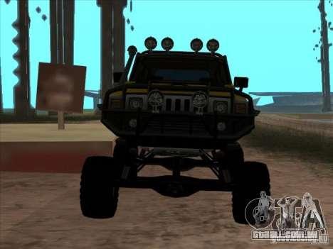 Hummer H3 Trial para GTA San Andreas vista direita
