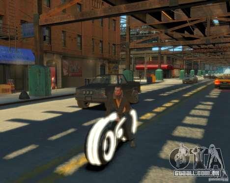 Motocicleta do trono (neon branco) para GTA 4