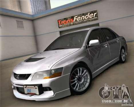 Mitsubishi Lancer Evolution IX Tunable para GTA San Andreas vista interior