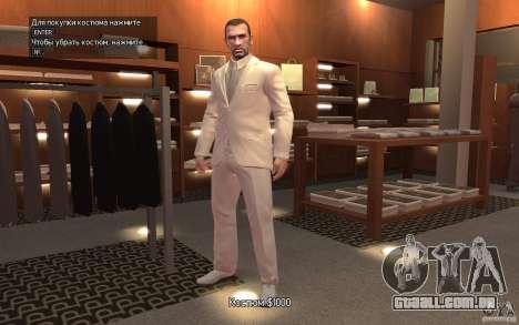 Grande traje cinza-branco para GTA 4