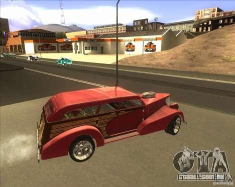 Custom Woody Hot Rod para GTA San Andreas vista interior