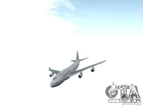 Boeing 747-400 China Airlines para GTA San Andreas vista traseira