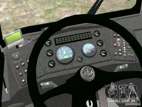 MAZ 5295 v 2.0 final para GTA 4 vista de volta