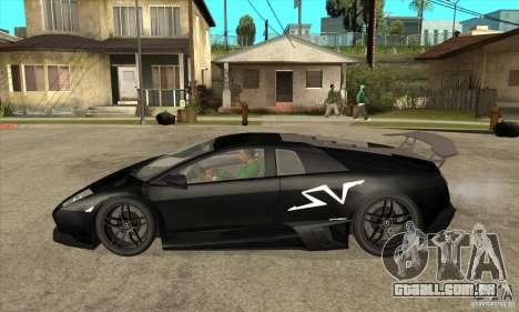 Lamborghini Murcielago LP 670 SV para GTA San Andreas esquerda vista