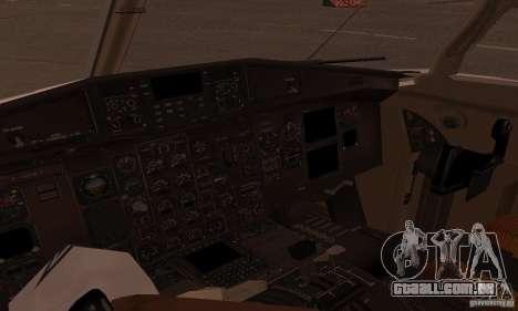 ATR 72-500 UTair para GTA San Andreas traseira esquerda vista