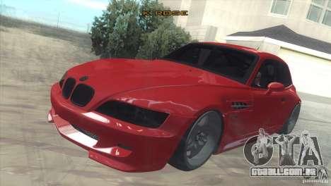 BMW Z3 M Power 2002 para GTA San Andreas vista interior