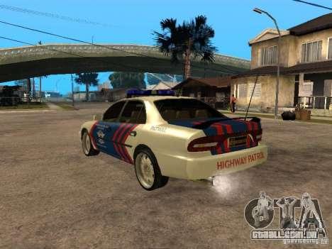 Mitsubishi Galant Police Indanesia para GTA San Andreas esquerda vista