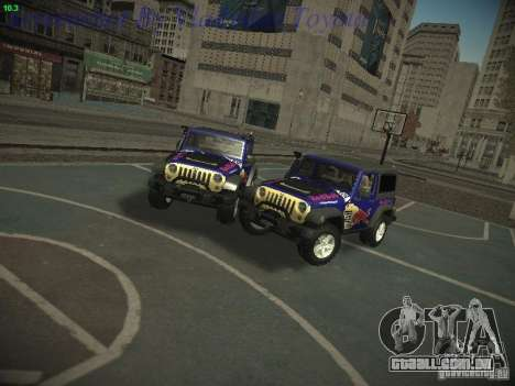 Jeep Wrangler Red Bull 2012 para GTA San Andreas traseira esquerda vista