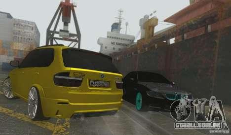 BMW X5M Gold Smotra v2.0 para GTA San Andreas vista traseira