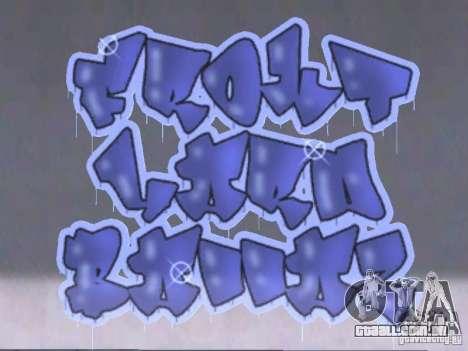 New LS gang tags para GTA San Andreas segunda tela