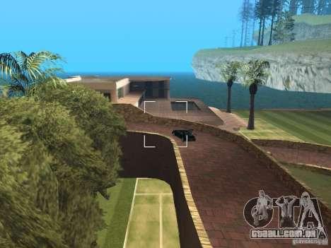 Mansão da ilha para GTA San Andreas terceira tela