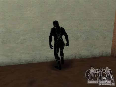 Um personagem do jogo Tron: Evolution para GTA San Andreas segunda tela