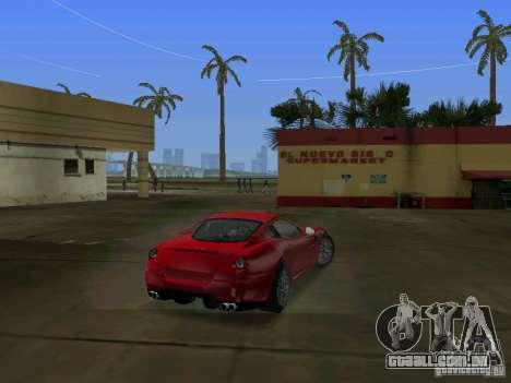 Ferrari 599 GTB para GTA Vice City vista traseira esquerda