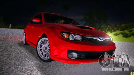 Subaru Impreza WRX STI (GRB) - LHD para GTA Vice City vista traseira