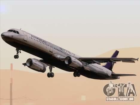 Airbus A321 Air Macau para GTA San Andreas vista interior
