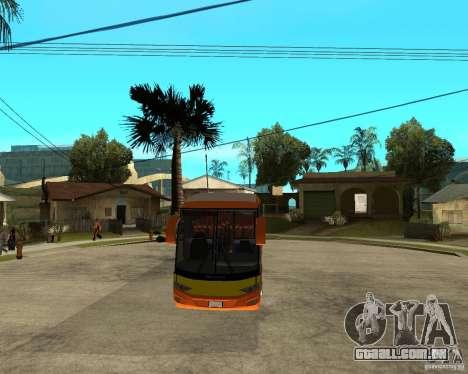 Cidade Express Bus da Malásia para GTA San Andreas vista traseira