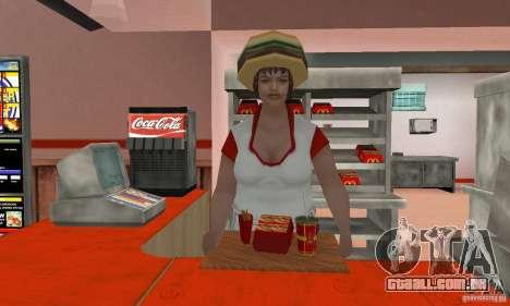 Restaurantes McDonals para GTA San Andreas sétima tela