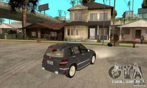 Mercedes Benz GLK300 para GTA San Andreas vista direita