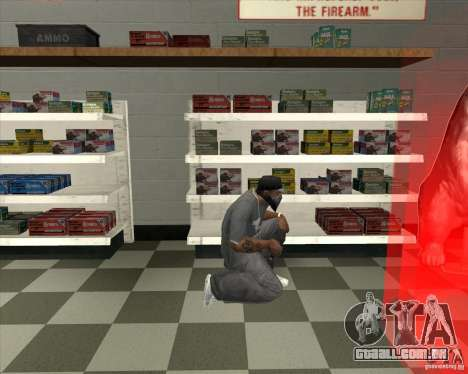 New Ammunation para GTA San Andreas terceira tela