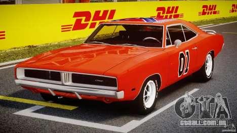 Dodge Charger General Lee 1969 para GTA 4 vista de volta