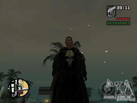 O justiceiro para GTA San Andreas segunda tela