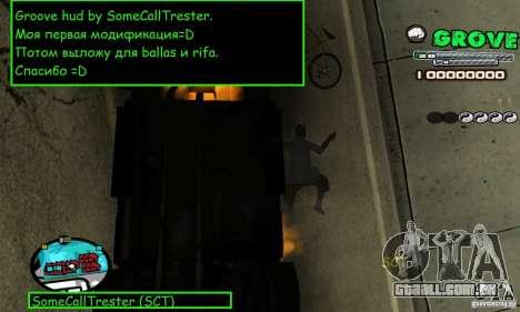 Grove Hud By SCT para GTA San Andreas segunda tela