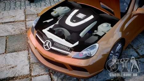 Mercedes-Benz SL65 AMG Black Series para GTA 4 vista interior