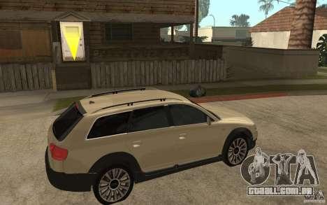 Audi Allroad Quattro para GTA San Andreas vista direita