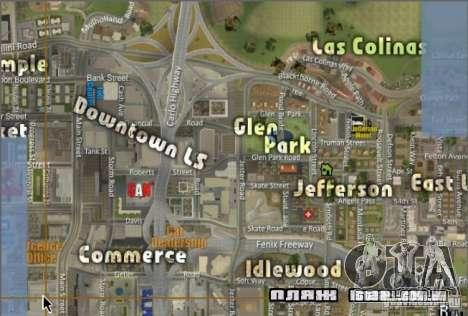 O novo mapa e radar para GTA San Andreas