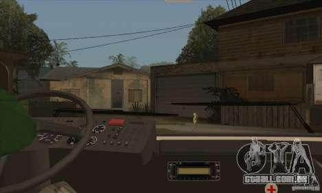 LAZ 52078 (forro-12) para GTA San Andreas vista interior