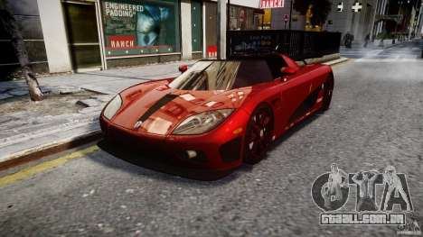 Koenigsegg CCXR Edition para GTA 4 vista de volta