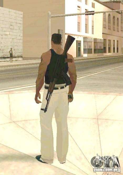 Armas no corpo para GTA San Andreas