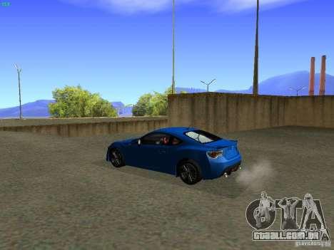 Toyota GT86 Limited para GTA San Andreas esquerda vista