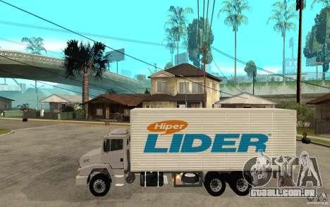 Camiun Hiper Lider para GTA San Andreas esquerda vista