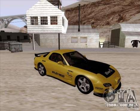 Mazda RX7 2002 FD3S SPIRIT-R (Type RS) para GTA San Andreas vista interior