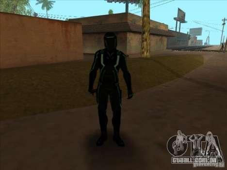 Um personagem do jogo Tron: Evolution para GTA San Andreas quinto tela
