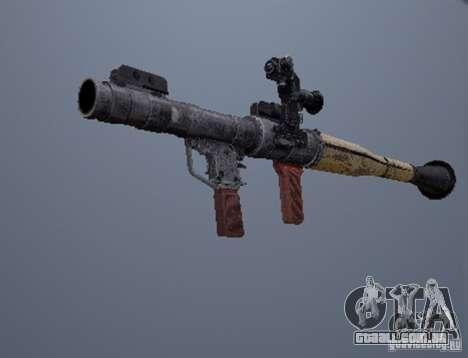 Um conjunto de armas de um stalker para GTA San Andreas por diante tela