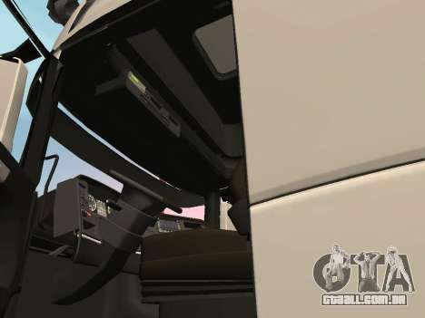 Scania R700 Euro 6 para GTA San Andreas vista interior