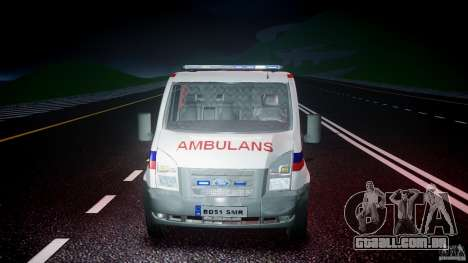Ford Transit Polish Ambulance [ELS] para GTA 4 vista superior