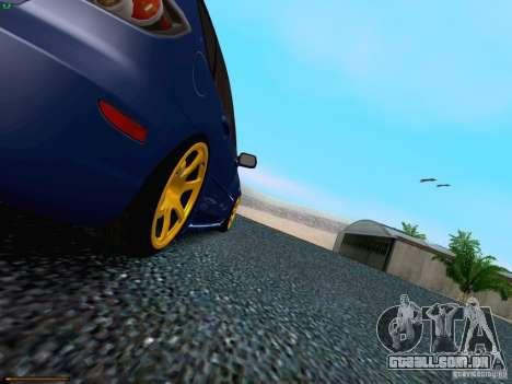 Mazda Speed 3 para GTA San Andreas vista superior