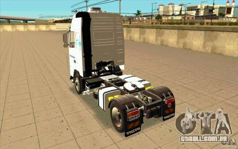 Volvo FH16 Globetrotter GAZEAU para GTA San Andreas traseira esquerda vista