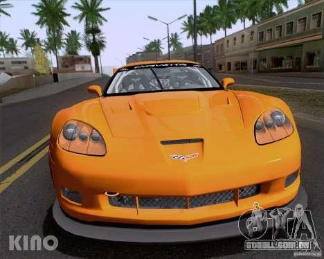 Chevrolet Corvette C6 Z06R GT3 v1.0.1 para vista lateral GTA San Andreas