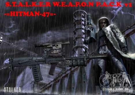 Um conjunto de armas de um stalker para GTA San Andreas