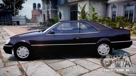 Mercedes-Benz 600SEC C140 1992 v1.0 para GTA 4 esquerda vista