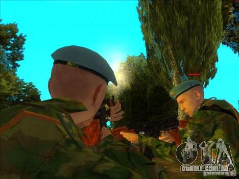 As tropas AEROTRANSPORTADAS! para GTA San Andreas segunda tela
