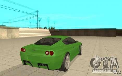 Super GT do GTA 4 para GTA San Andreas traseira esquerda vista