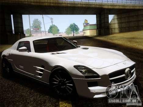 Mercedes-Benz SLS AMG para GTA San Andreas vista traseira